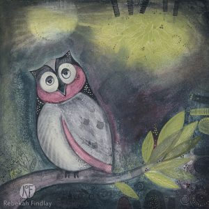 Sleepy Owl - SOLD