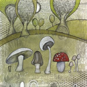 Mushrooms & Trees - SOLD